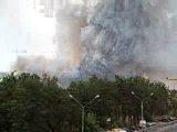 Дым в лесу в районе авторынка.